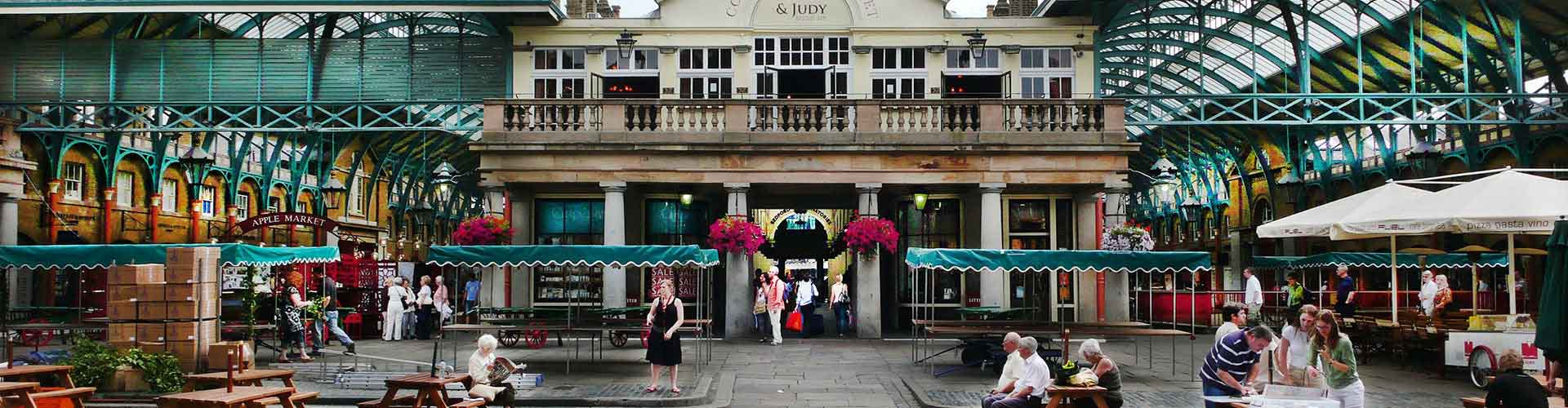 London – Hostels close to Covent Garden Piazza. Maps for London, Photos and Reviews for each hostel in London.