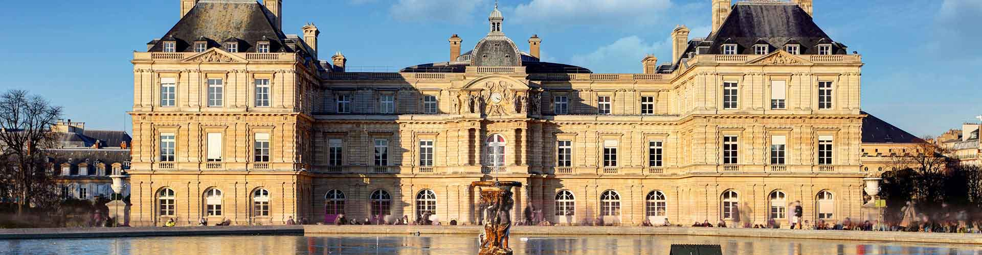 Paris – Hostels close to Palais du Luxembourg. Maps of Paris, Photos and Reviews for each Hostel in Paris.
