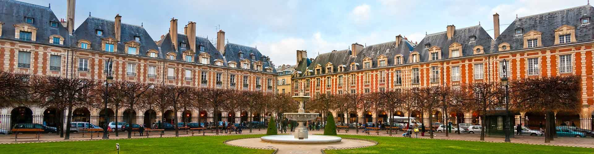 Paris – Camping close to Place des Vosges. Maps of Paris, Photos and Reviews for each camping in Paris.