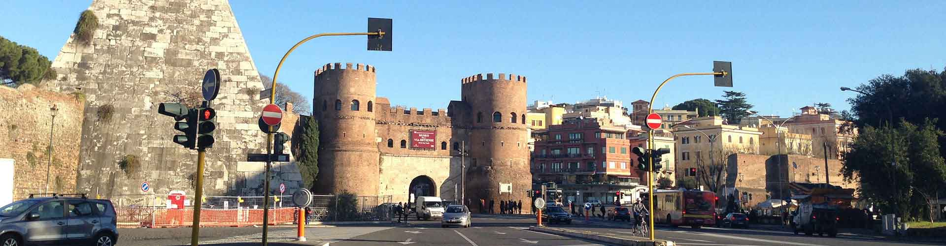 Rome – Hostels close to Pyramid of Cestius. Maps for Rome, Photos and Reviews for each hostel in Rome.