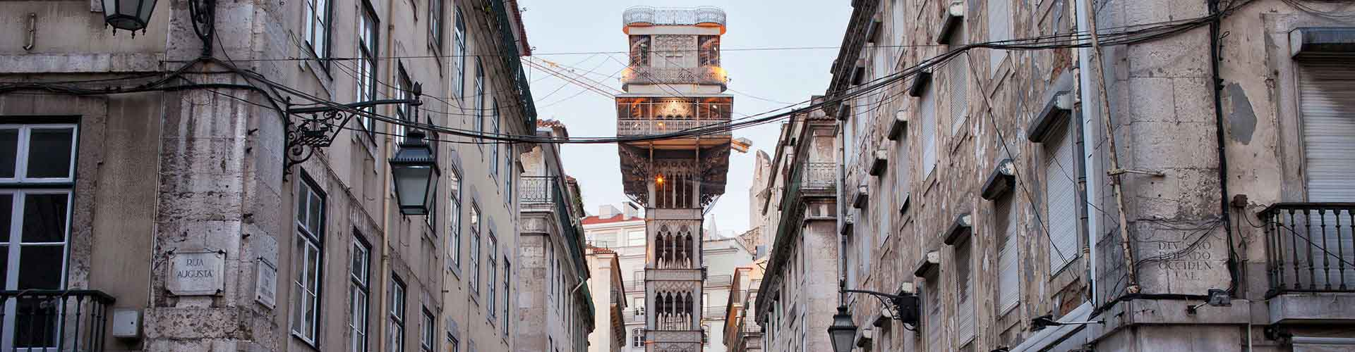 Lisbon – Hostels close to Santa Justa Lift. Maps for Lisbon, Photos and Reviews for each hostel in Lisbon.
