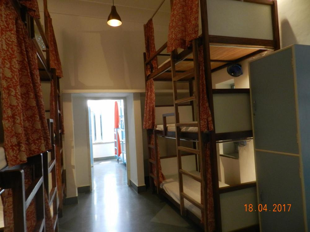 AC Triple Bunk Mixed Dormitory Accessed By The Porch
