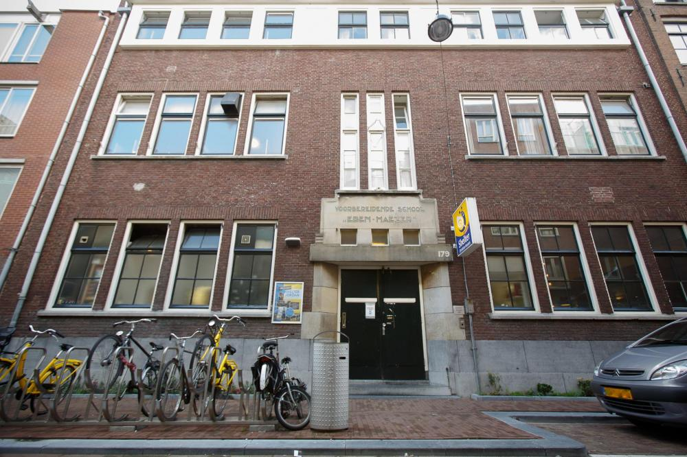 Our building was a former primary school and has classic Amsterdam architecture
