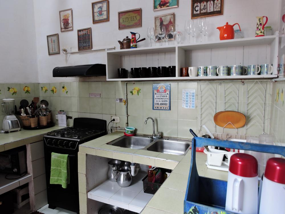 This is our kitchen all equipped for you