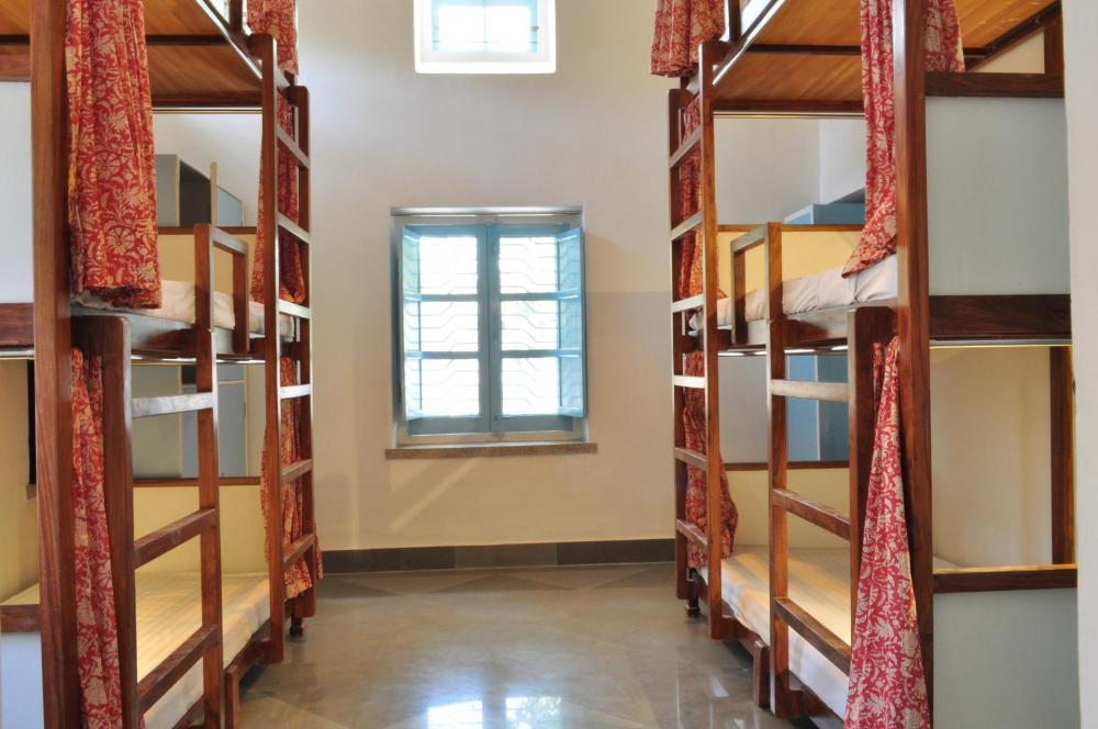 Only Girls AC Dormitory, Lawn Facing, Triple Bunk With Attached Toilet And Bath.