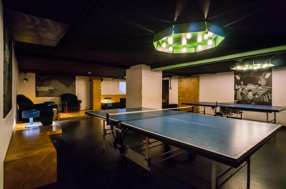 Ping pong in games room
