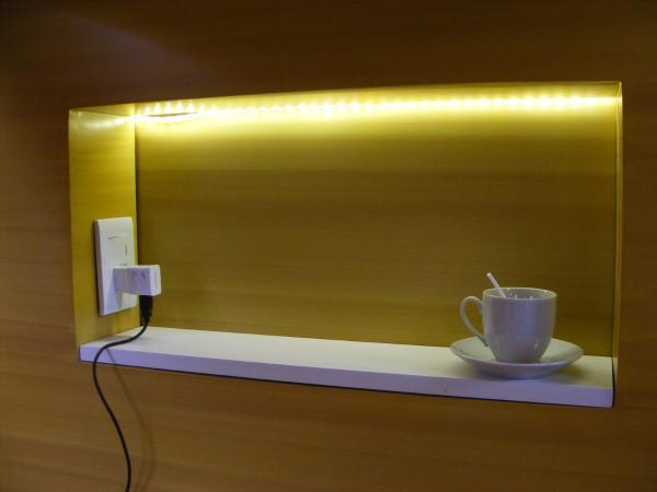 One Power Sockets with light for each bed