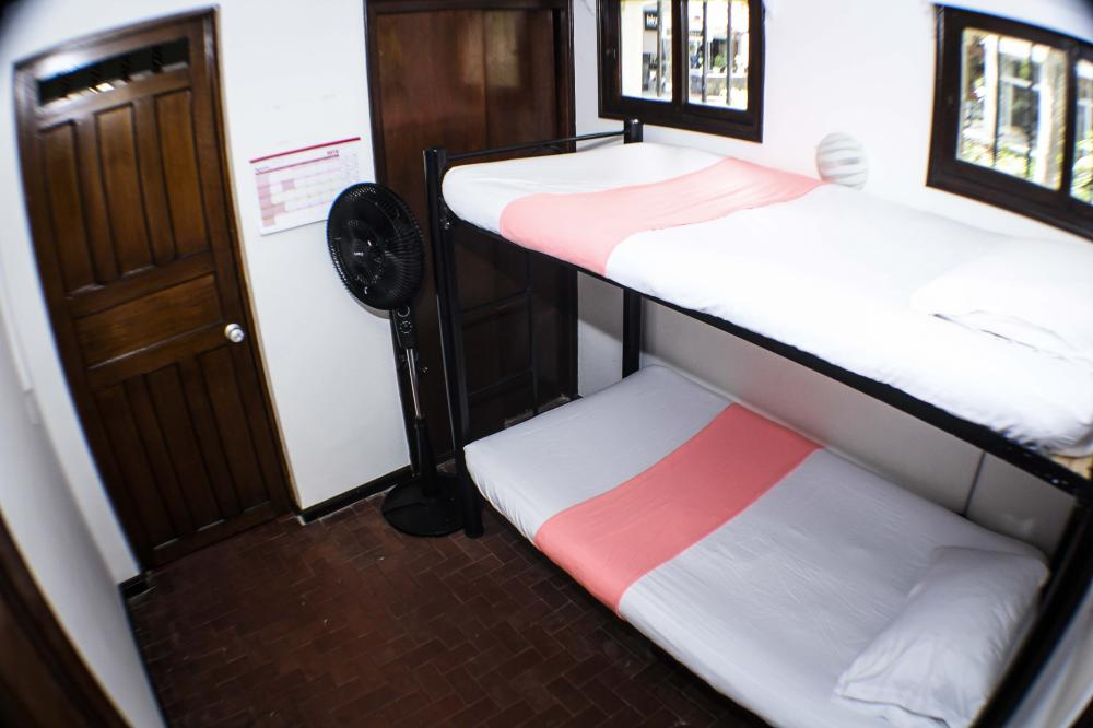 Private Room with Private Bathroom, a bunk bed and closets.