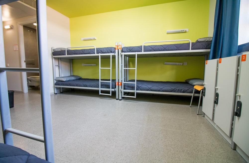 Bunkbeds in our shared rooms
