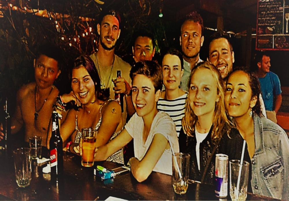 Have fun at  the bar and meet travelers all around the world