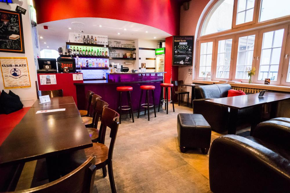 Our 24/7 bar at Amstel House Hostel Berlin
