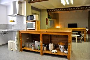 Kitchen and resting area